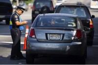 Cop Pulling Car Over