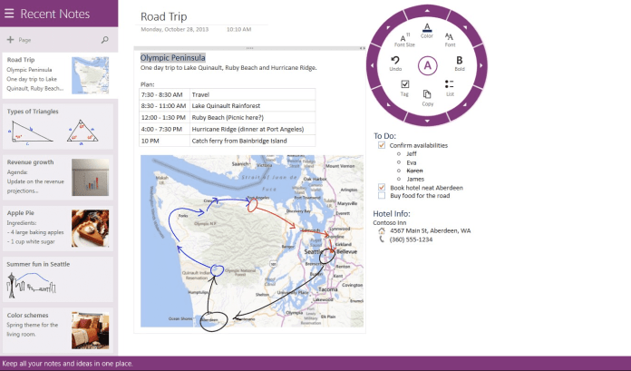 microsoft-windows-8-onenote-web-note-taking-app-solution-screenshot-example