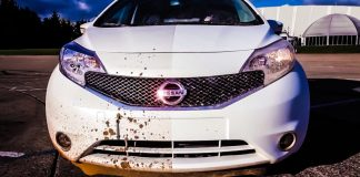 nissan-self-cleaning-dirt-repelling-car-paint-coating-protection-clean-white-note-new-japanese-automotive-technology-trending-2014-youtube-test-drive-mud