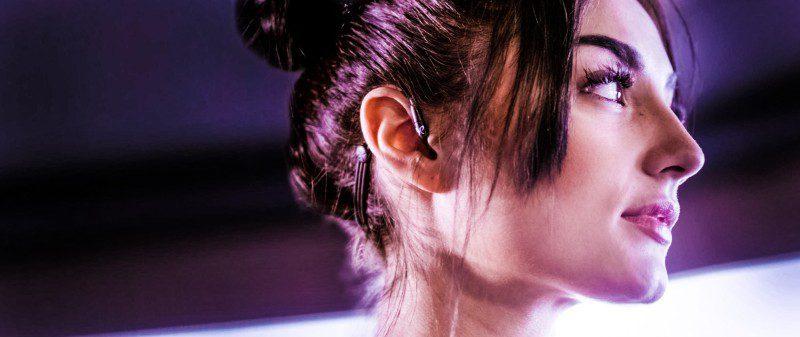Jaybird Sport Earbuds Music Woman Head Turning Around