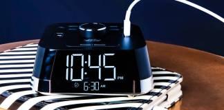 Brandstand CubieTime Reliable Alarm Clock Hotels USB Plus Sockets