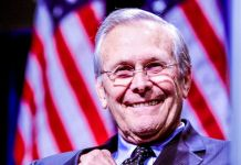 """Known Unknowns Unknown Risk Management Former United States Secretary of Defense Donald Rumsfeld at CPAC 2011 in Washington, D.C, and receiving the """"Defender of the Constitution Award."""""""