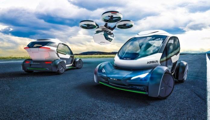 PopUp Vehicle Concept Italdesign Airbus Flying Selfdricing Car Pod Hybrid Modular Transportation Adaptive