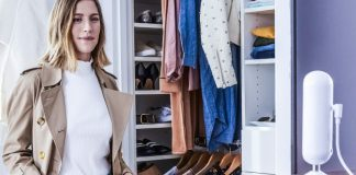 Echo Look Model Alexa Enabled AI Fashion Advisor Amazon Link Standing Posing Clothes Selection Nothing to wear crop
