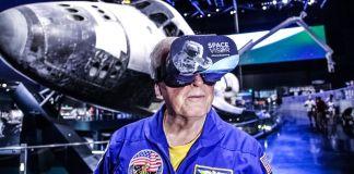 Jon McBride Space Visor VR Kennedy Space Center Museum Science AR