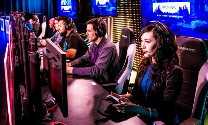 Xbox One X Players competed in a gaming marathon at the Mixer NYC Studio located at the flagship Microsoft Store on Fifth Ave Crop