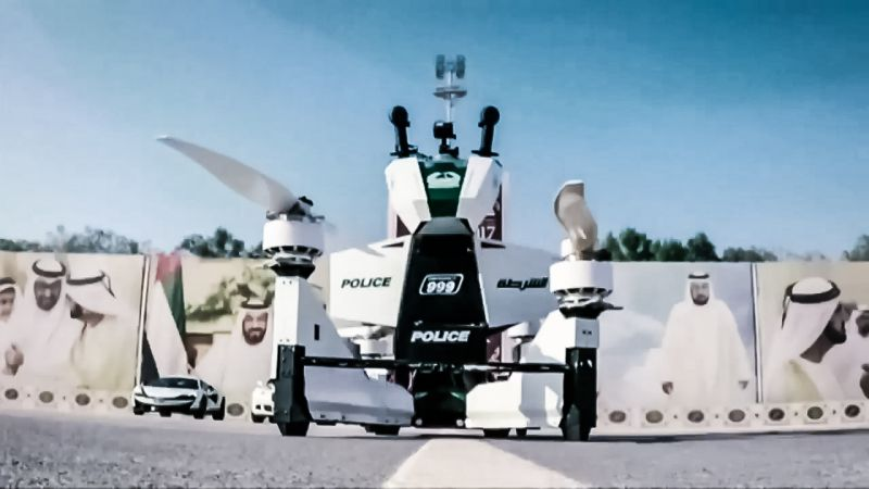 Dubai Police Hoverbike Russian Scorpion-3 News Video Demo