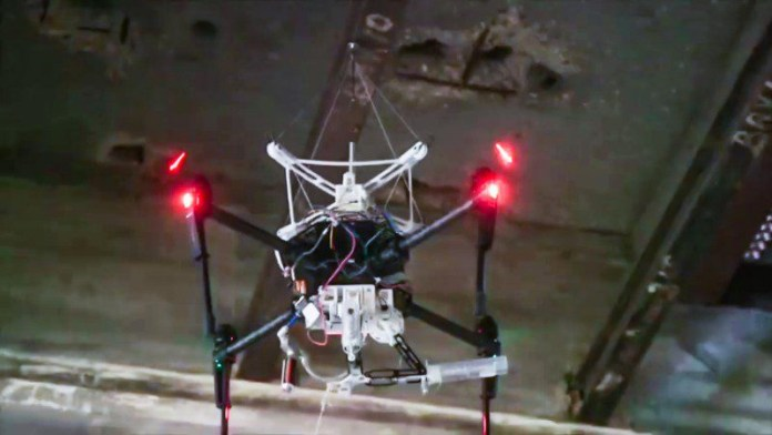 SpiderMAV- Micro Aerial Vehicles With Bio-inspired Tensile Anchoring Systems