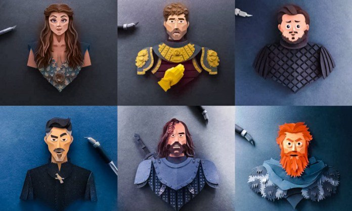 Robbin Gregorio Game of Thrones Paper Cutter Papercuts Art Geek Awesome Designs Characters