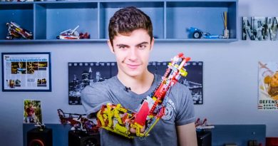 David Aguilar Andorra prosthetic lego arm video