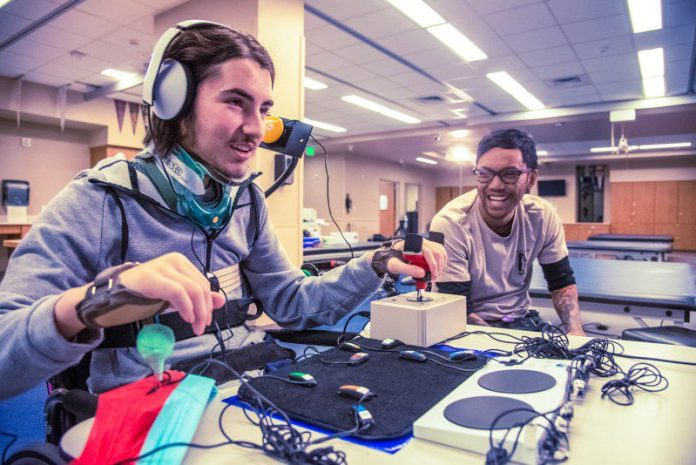 Disabled Player Team Happy Smiling Laughing Accessible Gaming with the Xbox Adaptive Controller Parts Ports Features Overview New Product Disabled Gamers