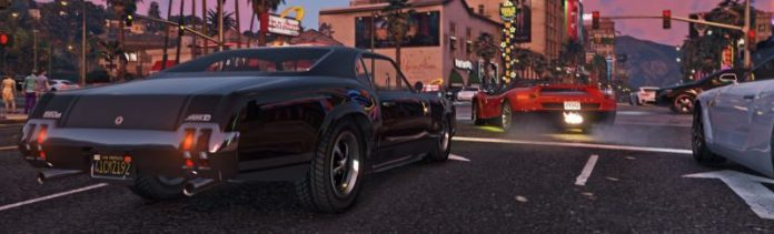 GTA 5 Screenshot Urban Area City Cars Street