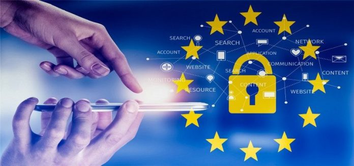 Regulation Data Privacy GDPR Internet Personal Access EU Europe Law Strict Graphic Infographic Hand Smartphone BYOD Examples