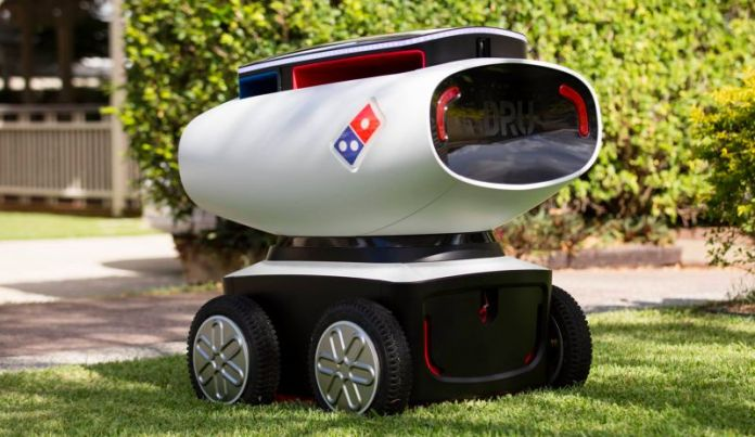 DRU Domino Robot Unit Delivery Drone Pizza