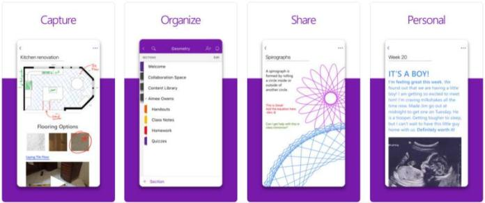 Note taking keeping apps android ios microsoft onenote