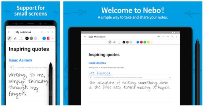Note taking keeping apps android ios myscript nebo handwritten notes