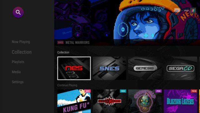 Polymega OS Screenshot UI Retro Gaming Modular System