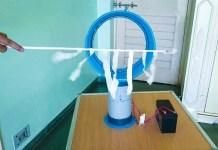 How to Make a Bladeless Fan using Plastic bucket at Home Navin Khambhala crazyNK DIY Air multiplier Hidden Blade Fan