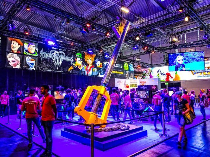 Gamescom Square Enix Kingdom Hearts 3 Booth Event Gamers Tencent News