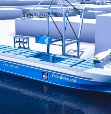 Yara Birkeland is a fully-electric autonomous ship which will deliver container vans to the 3 southern ports of Norway namely Herøya, Brevik, and Larvik.