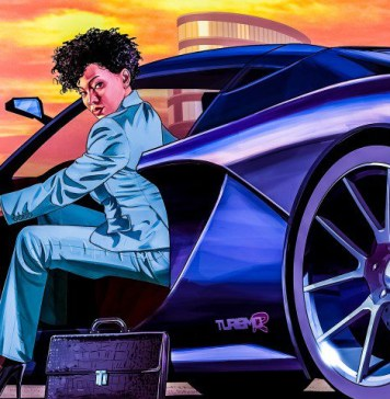 GTA V Online Self Driving Car Neural Network City Sandbox Python Woman Crop
