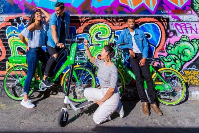 Entire fleet Lime Bike Micromobility