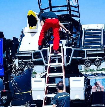 MegaBots Inc Robot Battle Huge Giant Bots Setup Outside