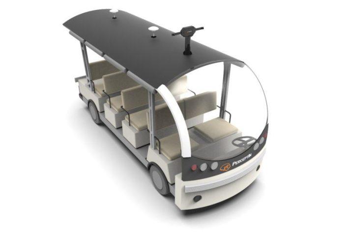 PerceptIn DragonFly Autonomous Shuttle Bus Render
