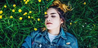 Sleepy Woman Lying In Grass Insomnia Chatbot Casper