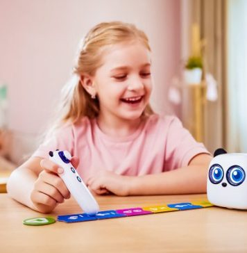 Child playing with Makeblock mTiny STEAM Robot Toy Educational Learning Coding