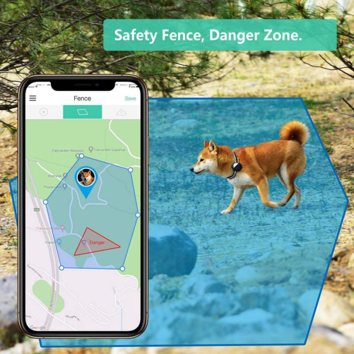Petfon GPS Tracker Lost Pets Stolen Dogs No Monthly Costs Geo-Fencing Alarm App