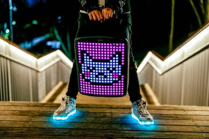 Pix Backpack Rucksack LED Screen Pixel Art Startup Design FashionTech
