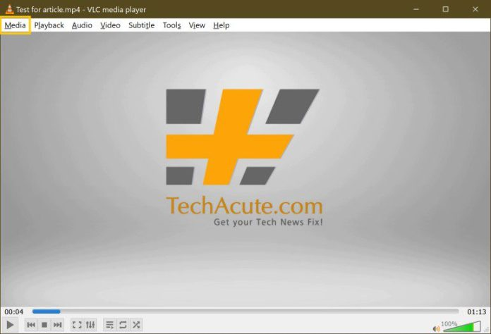 Batch-Convert Mov To Mp4 Video Conversion Free Easy VLC Step 1