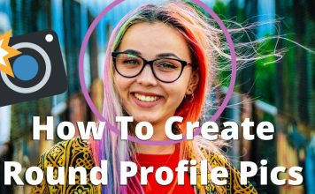 How to Get a Circular Profile Picture with Border in 9 Easy Steps Tutorial Online Web Browser Tool Free Guide Social Media Icons Image Photo Editor