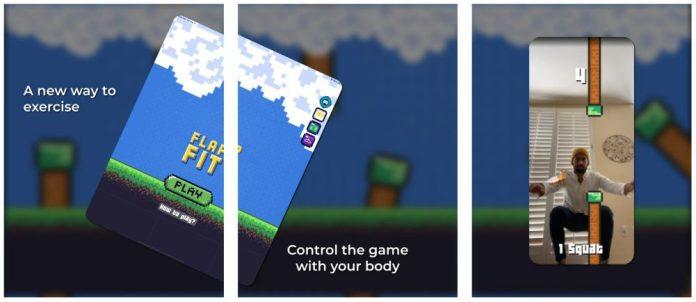 Flap Fit iOS Fitness AR Squatting App Screenshots