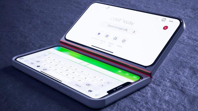 CastAway Case Dual Screen Smartphone Case keyboard