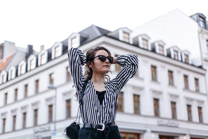 VogueAI Woman Standing In City Fashion Posing Model