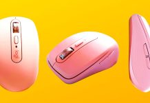Logitech MX Anywhere 3 Bluetooth Wireless Mouse Pink Rose