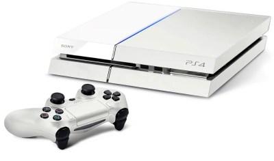 White Sony PS4