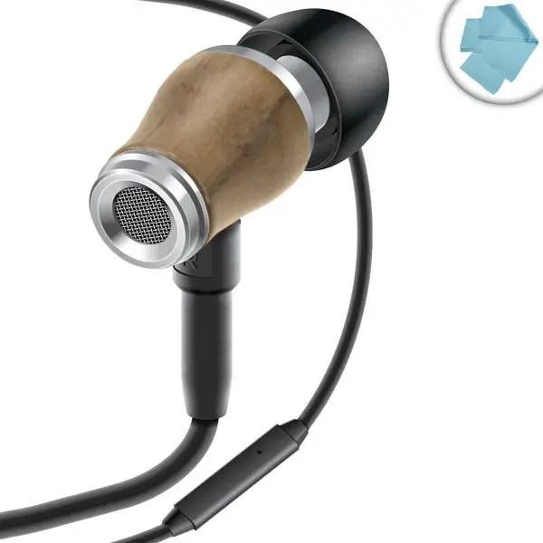 GOgroove In-Ear Walnut Earbuds