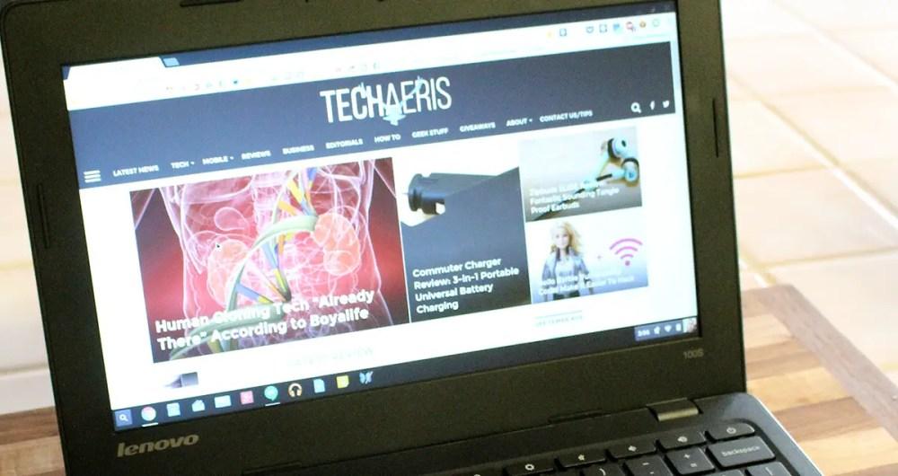 Lenovo 100S Chromebook sreen