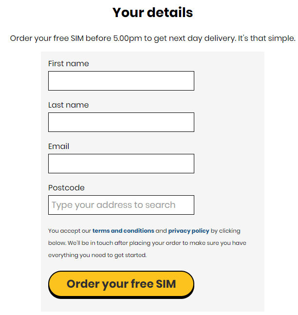 How to Order Giffgaff SIM in Pakistan Online