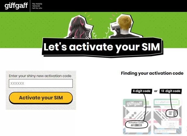 Legal way to Activate Giffgaff SIM in Pakistan