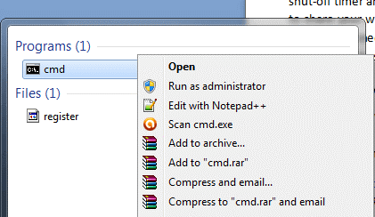 Open Windows Console as Administrator