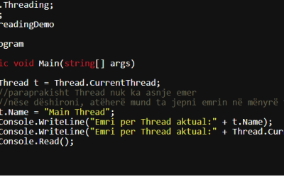 Multithreading në C# (C Sharp)