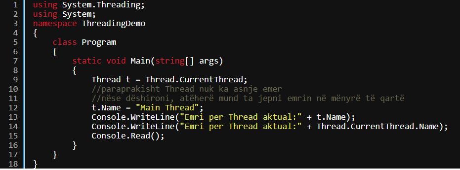 Multithreading në C# (C Sharp)