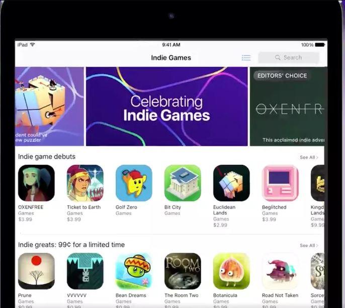 Los juegos indie tendrán su sección en la App Store