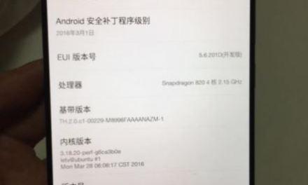 LeEco Le X920 con Snapdragon 820 y más detalles