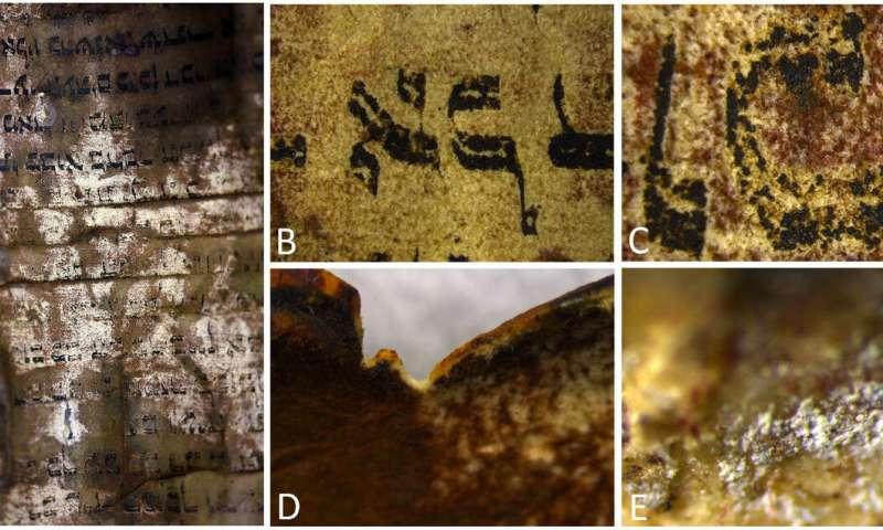 Researchers deconstruct ancient Jewish parchment using multiple imaging techniques