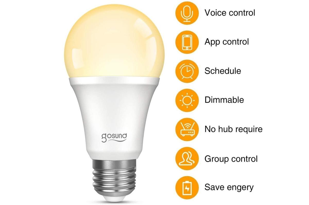 Gosund Dimmable WiFi LED Light Bulbs, 4-pack